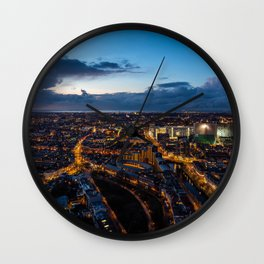 The Hague By Night Wall Clock