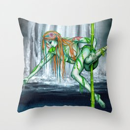 Pole Creatures - Water Nymph Throw Pillow
