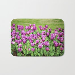 Lilac Tulips Bath Mat