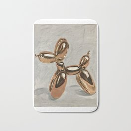 Golden Balloon Dog Bath Mat