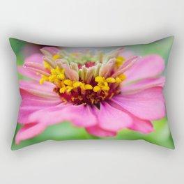 Bright Multi-color Zinnia Rectangular Pillow