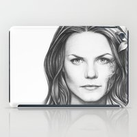 house md iPad Cases featuring Dr. Cameron-House MD-Jennifer Morrison-Portrait by Olechka