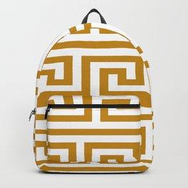 Gold Greek Key Backpack