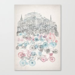 Old Town Bikes Canvas Print