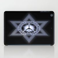 israel iPad Cases featuring Israel Peace Symbol - 032 by Lazy Bones Studios