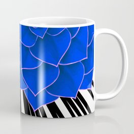 Big Bold Indigo Echeveria Illustration Coffee Mug