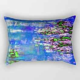 Mulberry Bark-blue Rectangular Pillow