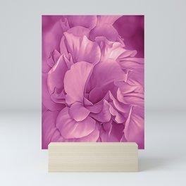 Hibiscus Rosa Double Petalled Purple Mini Art Print