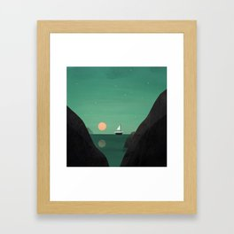 Ship at Dawn Framed Art Print