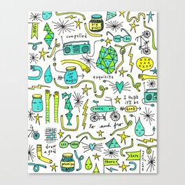 to and fro Canvas Print