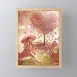 Love is in the Air Framed Mini Art Print