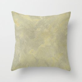 Champagne Skies Silver And Gold Metallic Plasters - Fancy Faux Finishes Throw Pillow