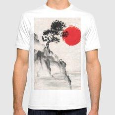 Japanese Landscape Art MEDIUM White Mens Fitted Tee