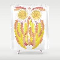 coachella Shower Curtains featuring Coachella by Dulce Velasco