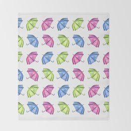 Colorful Umbrella Pattern Throw Blanket