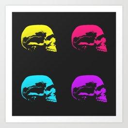 Graphic Skulls Art Print