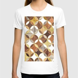 Wood and Gold Geometric T-shirt