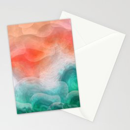 """""""Coral sand beach and tropical turquoise sea"""" Stationery Cards"""