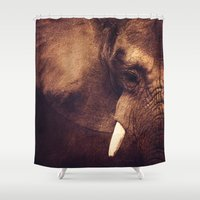 strong Shower Curtains featuring Strong by DONIKA NIKOVA - Art & Design