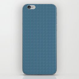 Knitted spring colors - Pantone Niagara iPhone Skin