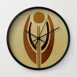 Elegant harmony mindfulness star soft motif bajor badge Wall Clock