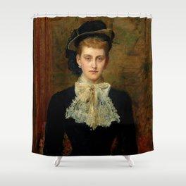 """John Everett Millais """"Countess de Pourtales, the former Mrs Sebastian Schlesinger"""" Shower Curtain"""