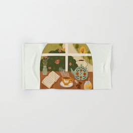 Tea Time by the Window Hand & Bath Towel