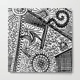 Swirly Doodle Metal Print