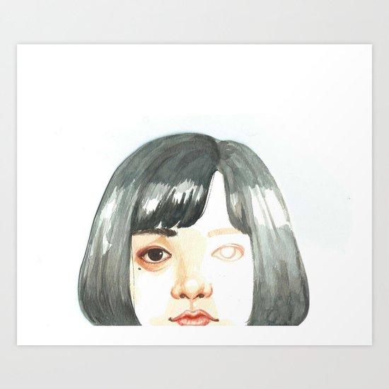 Unfinished Eye Art Print