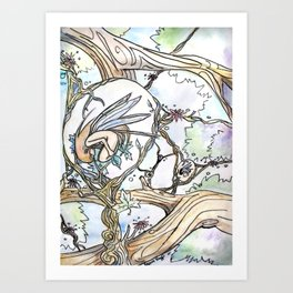 Birth of a Fairy Art Print