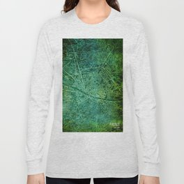 Florence 1890 green old map Long Sleeve T-shirt