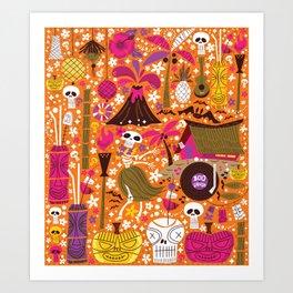 Tiki Freaks do the Hulaween Art Print