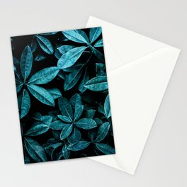 TEAL LEAVES Stationery Cards