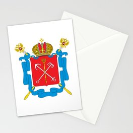 Coat of Arms of Saint Petersburg  Stationery Cards
