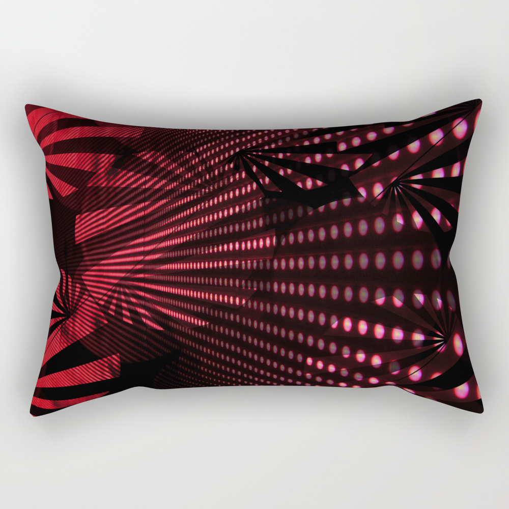 Red Burst Rectangular Pillow RPW7813990