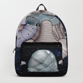 Space station from the fantastic world of the future . artwork Backpack