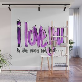 I love you (to the moon and back) Wall Mural