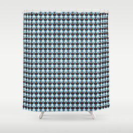 Ghastly Graphic Pattern Face Shower Curtain