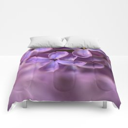 Fresh Lilac flowers Comforters