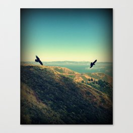 Flying Over Marin Headlands Canvas Print