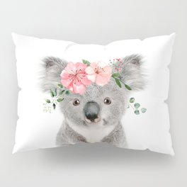 Baby Koala with Flower Crown Pillow Sham