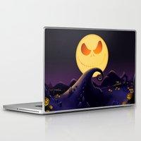 jack skellington Laptop & iPad Skins featuring Starry Night Jack Skellington by ThreeBoys