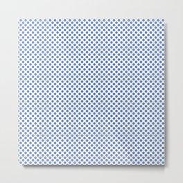 Ultramarine Polka Dots Metal Print