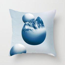 Ice Mountain Planet Throw Pillow