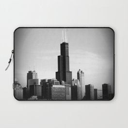 Black and White Chicago Sky Laptop Sleeve