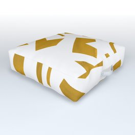Cut out - Yellow Outdoor Floor Cushion