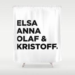 Frozen (w) Shower Curtain