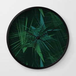 Explosive pattern Wall Clock