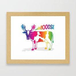 Mmmoooose Framed Art Print