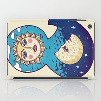 sun and moon iPad Cases featuring sun loves moon by Lidija Paradinović Nagulov - Celandine